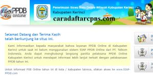 PPDB SMP Kabupaten Kerinci