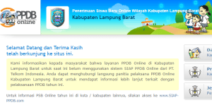 Jadwal PPDB SMA SMK Negeri Kab Lampung Barat 2020 2021
