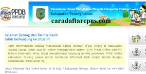Jadwal PPDB SMA SMK Negeri Kab Padang Lawas 2020 2021