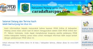 PPDB SMP Kabupaten Padang Lawas Utara