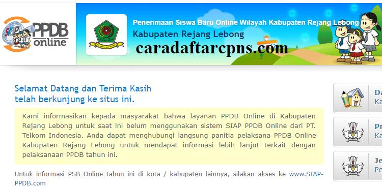 Ppdb Smp Kabupaten Rejang Lebong Syarat Jadwal Pendaftaran Sd