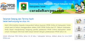 Jadwal PPDB SMA SMK Negeri Kab Solok 2020 2021