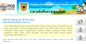 Jadwal PPDB SMA SMK Negeri Kab Tanah Datar 2020 2021