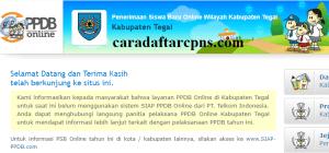Pengumuman Hasil PPDB SMA SMK Negeri Kabupaten Tegal 2020 2021