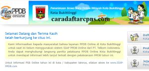Jadwal Pendaftaran PPDB SMA Kota Bukittinggi 2020 2021