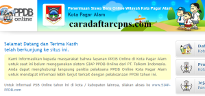 Jadwal Pendaftaran PPDB SMA Kota Pagar Alam 2020 2021
