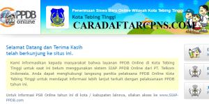 Jadwal Pendaftaran PPDB SMA Kota Tebing Tinggi 2020 2021