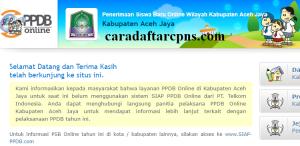 Jadwal Pendaftaran PPDB SMA SMK Negeri Kab Aceh Jaya 2020/2021