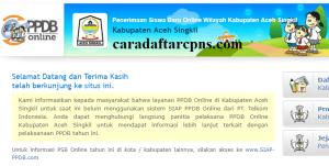 Jadwal PPDB SMP Kabupaten Aceh Singkil