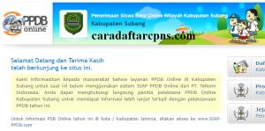 Jadwal Pendaftaran PPDB SMA SMK Negeri Kab Subang 2020/2021