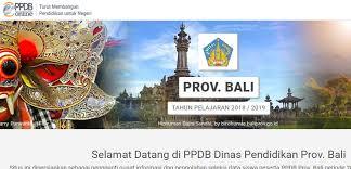 Jadwal Pendaftaran PPDB SMA SMK Negeri Provinsi Bali 2021