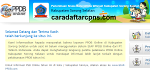 PPDB SMP Kabupaten Sorong Selatan