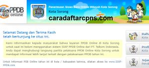 Jadwal Pendaftaran PPDB SMA 2020/2021 Kota Sorong