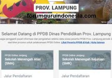 Jadwal Pendaftaran PPDB SMA SMK Negeri Provinsi Lampung 2021