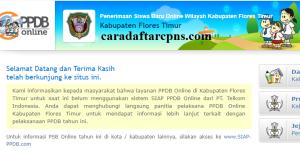 Jadwal PPDB SMA SMK Negeri Kab Flores Timur 2020 2021