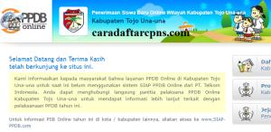 Jadwal PPDB SMA SMK Negeri Kab Tojo Una-Una 2020 2021