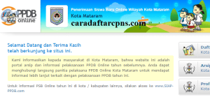 Jadwal Pendaftaran PPDB SMA 2020/2021 Kota Mataram