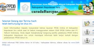 Jadwal PPDB SMA SMK Negeri Kab Kepulauan Aru 2020 2021
