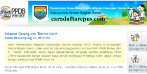 Jadwal PPDB SMA SMK Negeri Kab Seram 2020 2021