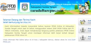 Jadwal PPDB SMA SMK Negeri Kab Sumba 2020 2021