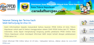 PPDB SMP Kota Tidore Kepulauan