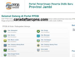 Pendaftaran PPDB Online SMA Provinsi Jambi 2019 2020