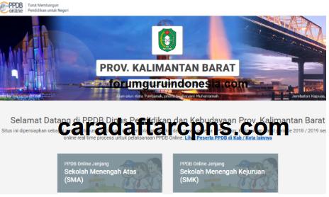 Jadwal Pendaftaran PPDB SMA SMK Negeri Provinsi Kalimantan Barat 2021