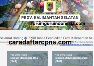Pengumuman Hasil Seleksi PPDB SMA SMK Negeri Provinsi Kalimantan Selatan 2020/2021
