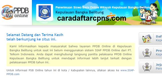 Jadwal Pendaftaran PPDB SMA SMK Negeri Provinsi Bangka Belitung 2021