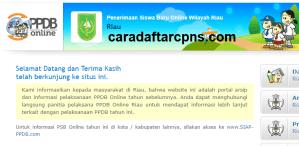 Pendaftaran PPDB Online SMA Provinsi Riau 2019 2020