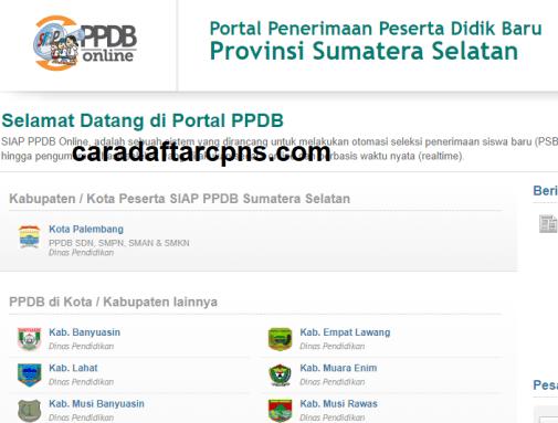 Jadwal Pendaftaran PPDB SMA SMK Negeri Provinsi Sumatera selatan 2021