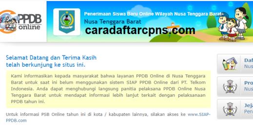Jadwal Pendaftaran PPDB SMA SMK Negeri Provinsi Nusa Tenggara Barat 2021