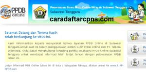 Pengumuman Hasil Seleksi PPDB SMA SMK Negeri Provinsi Sulawesi Tenggara 2020/2021
