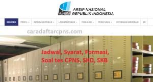 Pengumuman Hasil SKB CPNS ANRI Formasi 2019