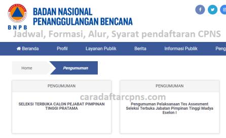 Jadwal dan syarat pendaftaran CPNS BNPB 2021