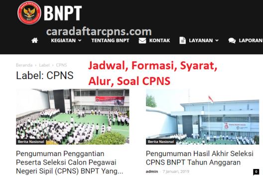 Jadwal dan syarat pendaftaran CPNS BNPT 2021