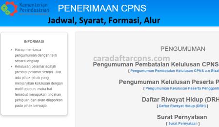 Jadwal dan syarat pendaftaran CPNS Kemenperin 2021