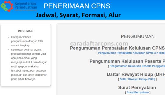 Hasil Seleksi Administrasi CPNS Kemenperin 2021