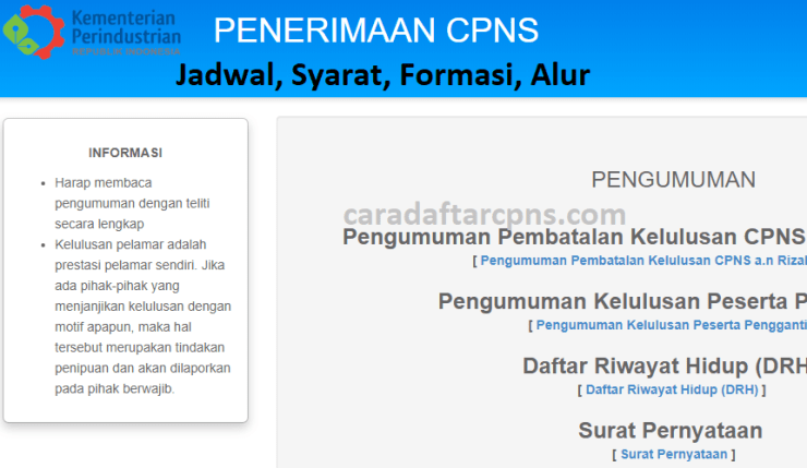 Jadwal Pendaftaran CPNS 2021 Kemenperin Lulusan SMA SMK D3 S1 S2