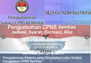 Jadwal dan syarat pendaftaran CPNS Kemhan 2021