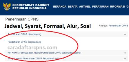 Jadwal dan syarat pendaftaran CPNS SETKAB 2021