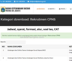 Jadwal Pendaftaran CPNS Pemprov DKI Jakarta 2021 Lulusan SMA SMK D3 S1 S2