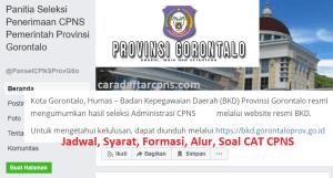 Pendaftaran CPNS Gorontalo 2019
