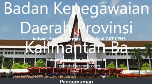 Hasil Seleksi Administrasi CPNS Pemprov Kalbar 2021
