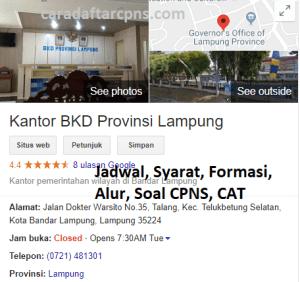 Pengumuman Hasil SKB CPNS Pemprov Lampung Formasi 2019