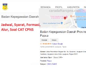 Jadwal Pendaftaran CPNS Pemprov Papua 2021 Lulusan SMA SMK D3 S1 S2