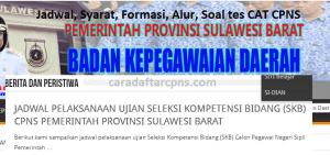 Pendaftaran CPNS Sulbar 2019