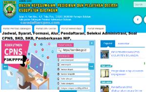 Pengumuman Hasil SKB CPNS Kabupaten Balangan Formasi 2019
