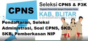 Jadwal Pendaftaran CPNS Kabupaten Blitar 2021 Lulusan SMA SMK D3 S1 S2
