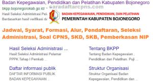 Jadwal SKB CPNS Kabupaten Bojonegoro 2019 2020